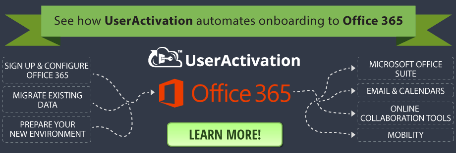 See how UserActivation automated onboarding to Office 365!